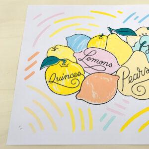 Quinces, Lemons, Pears & Grapes #C10