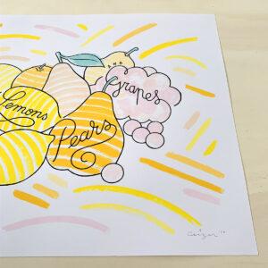Quinces, Lemons, Pears & Grapes #C11