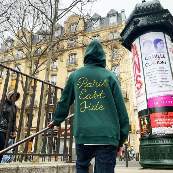 Paris Eastside green hoodie-2203