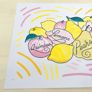 Quinces, Lemons, Pears & Grapes #C12