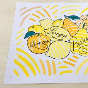 Quinces, Lemons, Pears & Grapes #C15