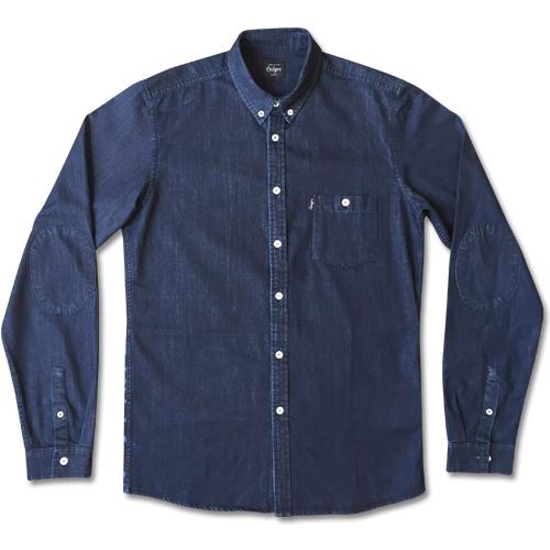 Abstract Denim Shirt-0