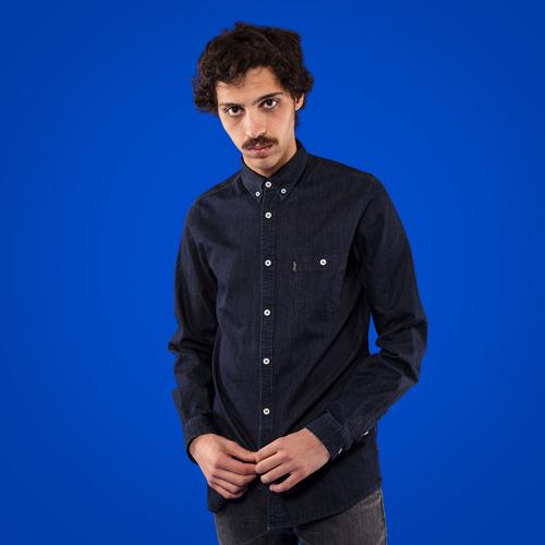 Abstract Denim Shirt-1518