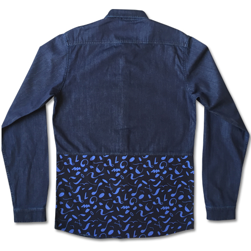 Abstract Denim Shirt-1470