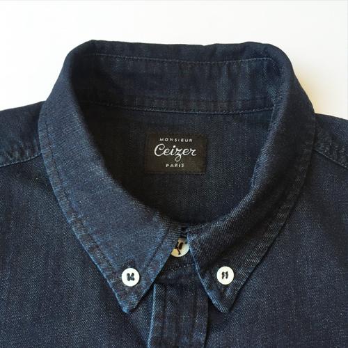 Abstract Denim Shirt-1474