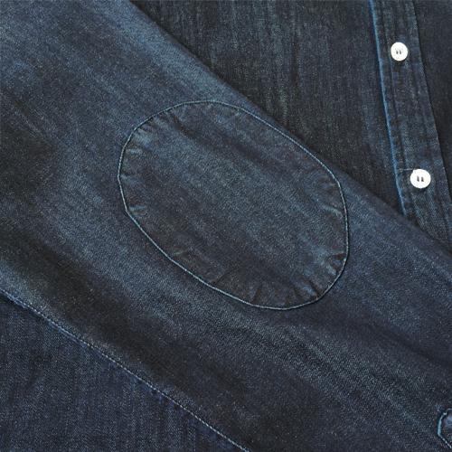 Abstract Denim Shirt-1475