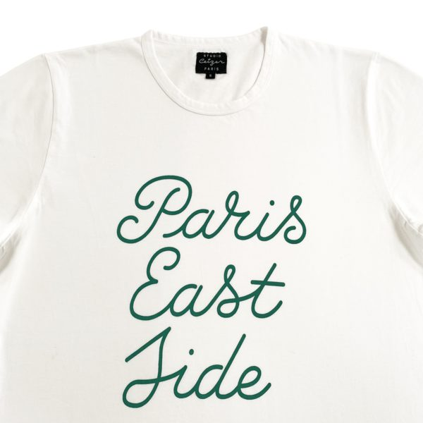 Paris Eastside Green Script Tshirt-2188