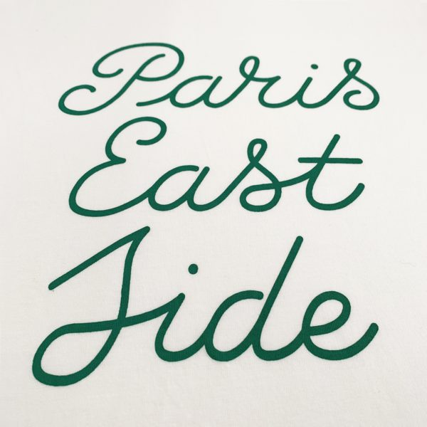 Paris Eastside Green Script Tshirt-2189