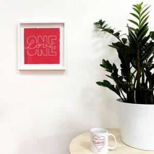 One Love print