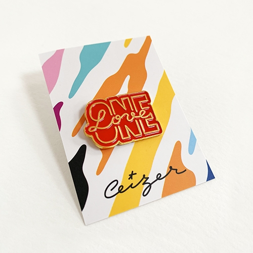 One Love pin-2133