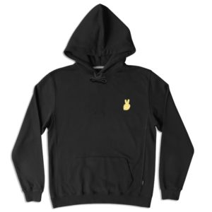 Peace gold embroidery hoodie-0