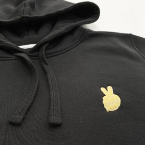 Peace gold embroidery hoodie