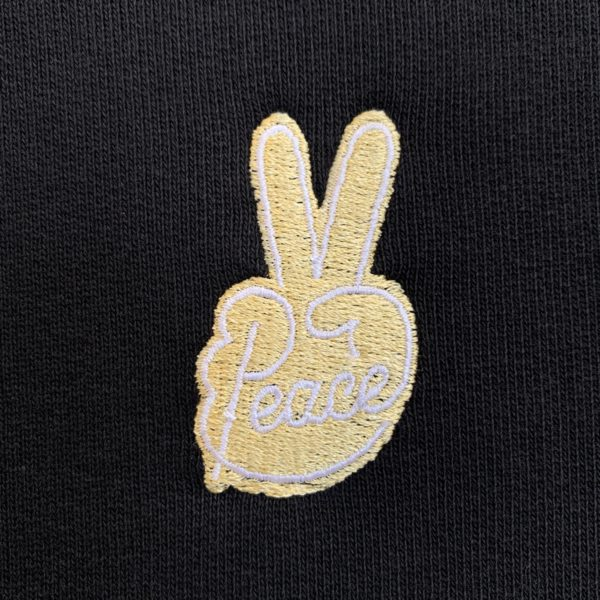 Peace gold embroidery hoodie-2208
