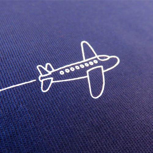 Plane Pinstripe T-shirt-1448