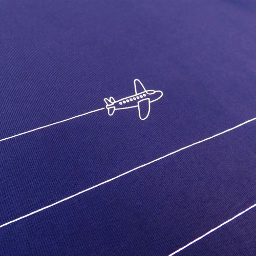 Plane Pinstripe T-shirt-1447