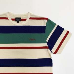 Striped Ceizer embroidery t-shirt